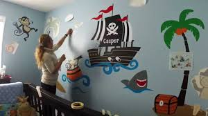 Great Ideas Of Monkey Nursery by Custom Nursery Wall Decor Monkey Pirates At Sea Baby Room