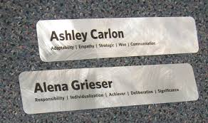 Custom office nameplates