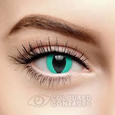 cat contacts aqua blue cat s eye 90 day coloured contact lenses lenses