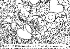 Zendoodle Heart Throughout Abstract Coloring Pages