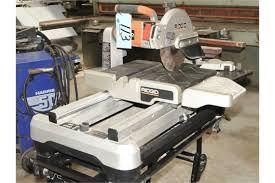 ridgid model wts2000l 10 tile saw s n f8003787 with cart