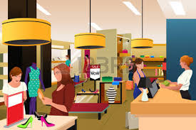 A Vector Illustration Of Women Shopping In Clothing Store Royalty Free Cliparts Vectors And Stock Image 55973619