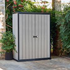 Keter Manor Resin Shed 4 X 6 by Plastic Bike Sheds Plastic Storage Box Large Patio Garden Bike