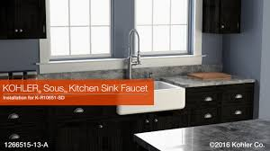 Install Kohler Sink Strainer by Installation U2013 Sous Kitchen Sink Faucet Youtube
