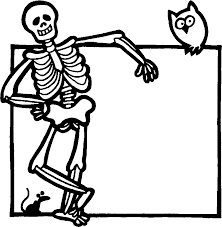 Skeleton Coloring Pages Images