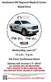 100 Win A Truck SMRMC Blood Drive With A Chance To A New