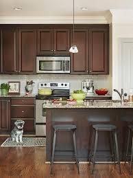 Kitchen Backsplash Ideas For Dark Cabinets by Best 25 Dark Wood Cabinets Ideas On Pinterest Dark Wood