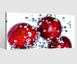 details zu leinwandbilder kirsche küche esszimmer leinwand bild wandbild holz 9bd121