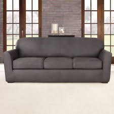 Sure Fit Sofa Covers Ebay by Leather Sofa Slip Cover Ebay