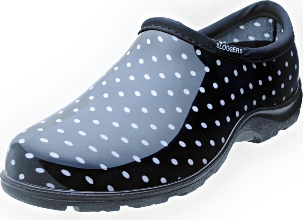 Sloggers Women's Rain and Garden Shoes - Black Polka Dot, 10 US