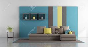 100 Modern Sofa For Living Room Minimalist Living Room With Colorful Wall And Modern Sofa 3d