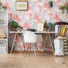 100 Walls By Design Blue Vintage Flower Removable Wallpaper 0578 Me Me