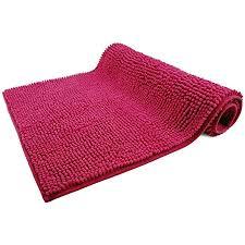 wohndirect badematte pink badezimmerteppich zum set kombinierbar rutschfest waschbar badvorleger wc garnitur badteppich 70 x 120 cm