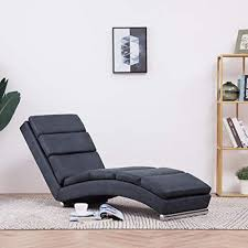 festnight chaiselongue mit kissen mit 5 massagemodi und