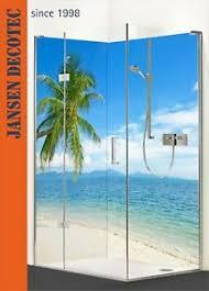 details zu duschrückwand set dusche wandverkleidung badrückwand motiv strand palme