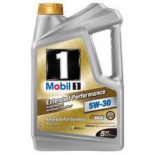 mobil 1 5w 30 extended performance full synthetic motor oil 5 qt