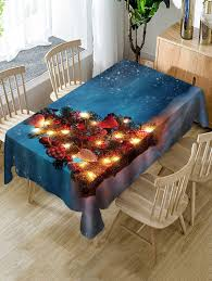Shop Christmas Tree Snow Fabric Waterproof Table Cloth
