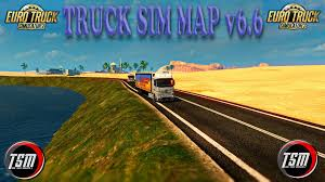 TRUCKSIM MAP V6.6 FOR PATCH 1.27.X (18.06.2017) MAP MOD - ETS2 Mod