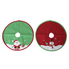 Mini Tree Skirt 18 Inches 2 Assorted Styles