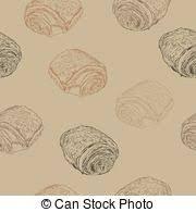 Chocolate Croissants Pain Au Chocolat Hand Draw Sketch