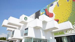 100 What Are Shipping Containers Made Of Starbucks Opens Breathtaking EcoFriendly Store Of