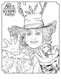 Coloring Page Alice Through The Looking Glass Mad Hatter On Kids N Fun
