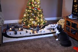 Small Fibre Optic Christmas Trees by Train Around Christmas Tree Christmas Ideas