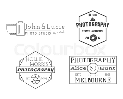 Photographer Badges And Labels In Vintage Style Simple Line Design Retro Theme For Photo Studio Photographers Equipment Store Signs Logos Insignias