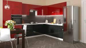 küche schwarz rot nach maß inkl geräte und montage