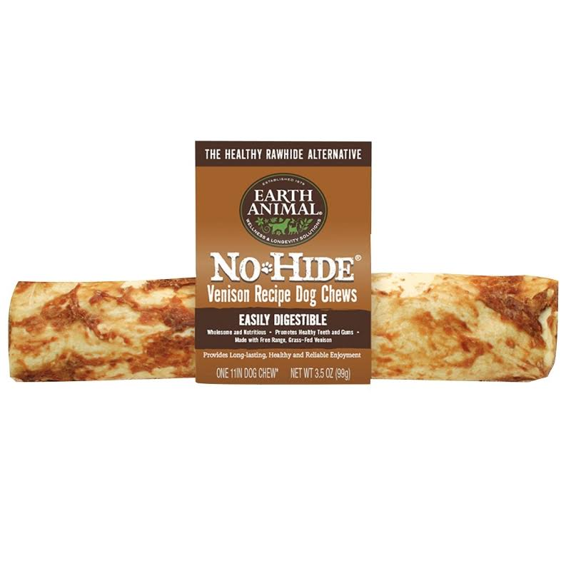 Earth Animal No Hide Venison Dog Chew, 11in