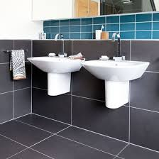 bathroom same tiles floor and wall with excellent innovation