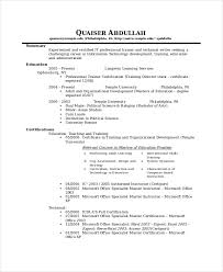 Sample Technical Writing IT Resume Template Examples