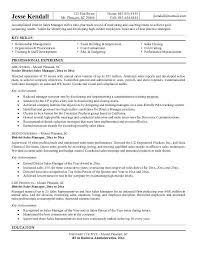 Sales Resume Sample Manager Best