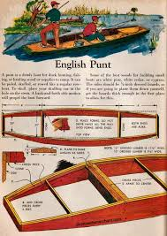 free plans to build an english style punts from an old children u0027s