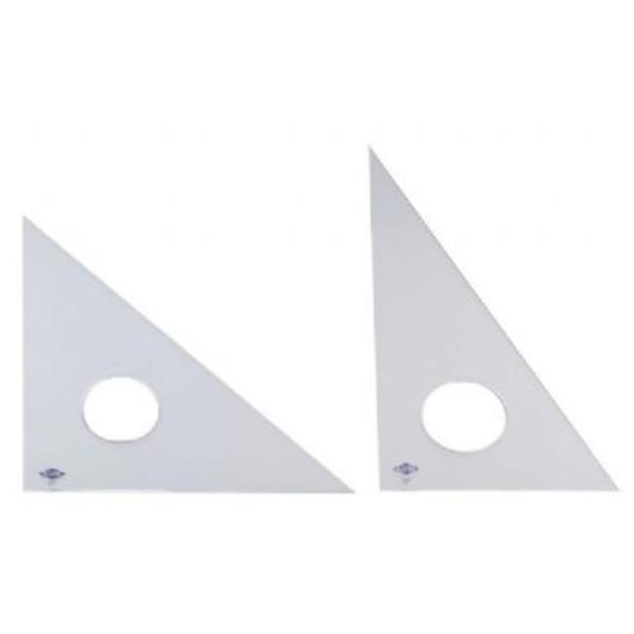 "Alvin 8"" Clear Professional Acrylic Triangle 45/90"