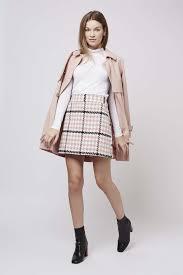 checked mini skirts dress ala