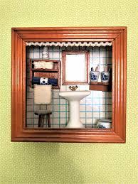 reutter porzellan miniaturen wandbild bad badezimmer puppen
