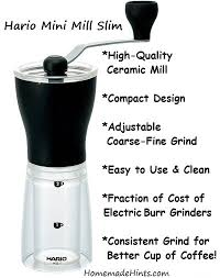 Hario Mini Mill Slim Hand Grinder Makes A Great Cup Of Coffee