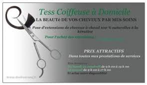 carte de visite coiffure a domicile coiffures féminines et