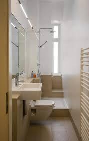 ideen kleine bader schmales badezimmer dusche beige