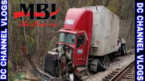 MBI Trucking Semi On Railroad Tracks Freight Train Oops | VLOG - YouTube