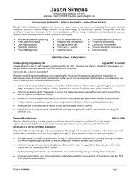 Resume Templates Electrical Engineer Template For Mechanical Engineering
