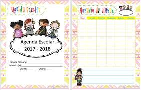 Bonita y organizada agenda para el ciclo escolar 2017 – 2018