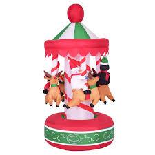 Shop Costway 65 IndoorOutdoor Inflatable Whirligig Santa Ride