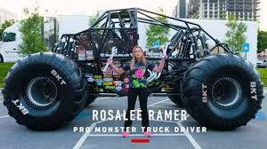 Rosalee Ramer Can Jump Her Monster Jam Truck Wild Flower 30 Feet In The Air But She Says Thats Not High Enough Wants To Be Able