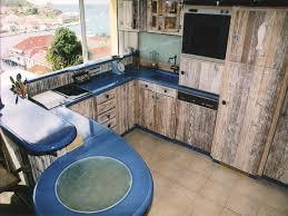 cuisine bois flotté cuisine ambiance caraïbes décoration intérieure var ar meubles