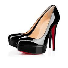 bianca 140 black patent leather women shoes christian louboutin