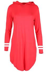 womens ladies curved hem striped sleeves baseball hooded oversized
