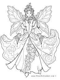 Detailed Fairy Coloring Page