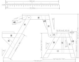 folding picnic table front elevation plan epr pinterest